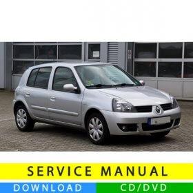Renault Clio 2 service manual (1998-2012) (MultiLang)