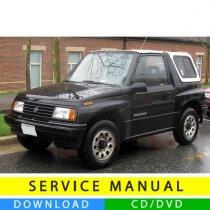 Suzuki Vitara service manual (1988-1998) (EN)